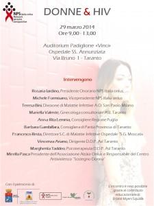 donne hiv Taranto- locandina