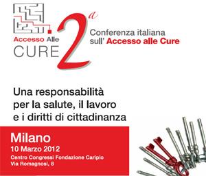 2a Conferenza italiana su Accesso alle Cure