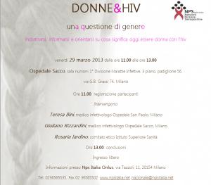 Donne&HIV - Milano