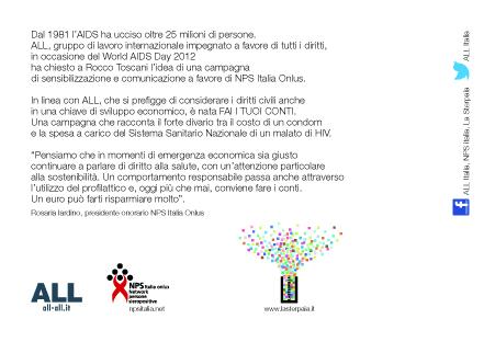 Rocco Toscani FAI I TUOI CONTI . ALL . NPS retro
