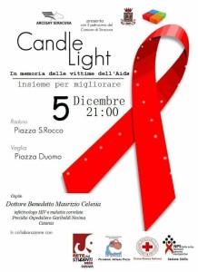 Locandina Candle Light - Siracusa